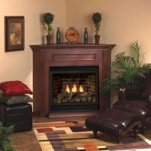 Vilano Empire Tahoe Deluxe Corner Gas Fireplace 32 Direct Vent