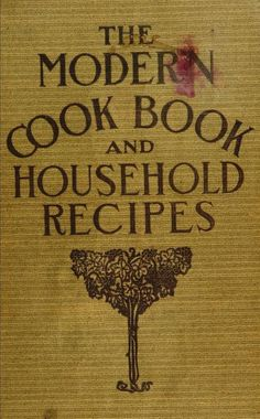 The Modern Cook Book And Household Recipes By Lily Haxworth Wallace - (1912) - (archive)