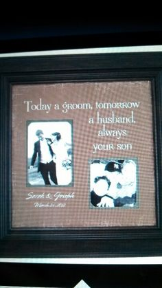 Mother of groom gift. I think this will be perfect!