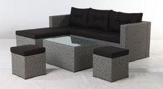 AMALIE+Loungesæt+-+Grå+-+Moderne+og+enkel+sofasæt+i+grå.+De+enkle+moduler+gør,+at+det+er+nemt+at+flytte+rundt+og+tilpasse+sofagruppen+til+enhver+placering.+Der+medfølger+sorte+hynder+til+sættet,+som+hele+familien+kan+nyde+sommeren+i.+ Outdoor Furniture Sets, Outdoor Decor, Table, Inspiration, Home Decor, Modern, Biblical Inspiration, Decoration Home, Room Decor