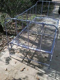 camastro sillón de hierro, una plaza, con elástico antiguo