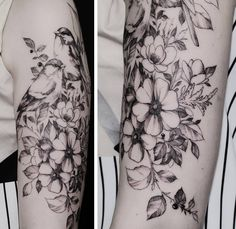 "6,687 Likes, 56 Comments - •Diana Severinenko (@dianaseverinenko) on Instagram: ""#flowers #blacktattooart #onlyblackart #equilattera #instainspiredtattoos #taot #tattooistartmag…"""