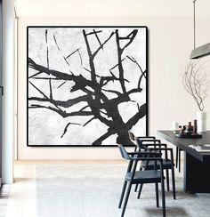 Large Abstract Painting Canvas Art Landscape por CelineZiangArt