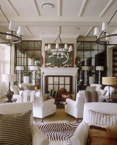 Savvy Home: Delightful Daily: Classically Fresh-like the multiple chair without sofa seating group