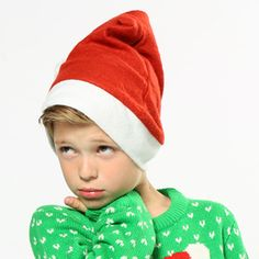 The absolute must-have accessory every Christmas - the traditional Santa hat.  This budget style makes it easy for everyone to look the part, whether it's in the office, on your Christmas night out or round the table on Christmas Day.  Such great value, you can afford to get the whole family one!