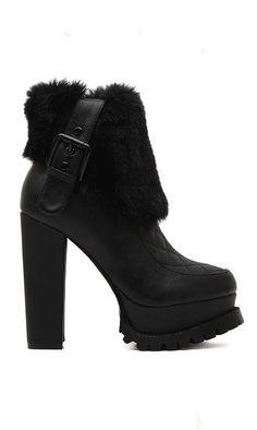 Fur winter booties
