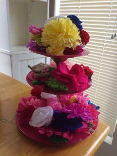 DIY Darlin: Tiered Plate Stand DIY, hair bow holder, headband holder for the nursery
