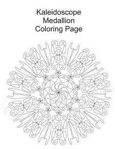 Kaleidoscope/Medallion Coloring Page