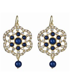 Look at this #zulilyfind! Gold & Navy Crystal Duchess Drop Earrings #zulilyfinds