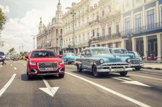 AUDI has become the first car maker in modern times to present a new model in cuba, test driving the AUDI in the one-of-a-kind megacity of havana. Audi Q, Havana Cuba, First Car, Photos, Pictures, Driving Test, Street View, Cars, Digital