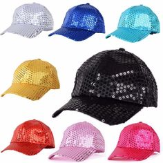 Unisex Kids Bling Sequin Snapback Baseball Cap Party Hip Hop Dance Visors Hat in Clothes, Shoes & Accessories, Men's Accessories, Hats | eBay