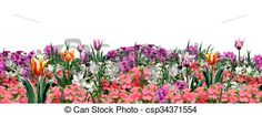 Stock Illustration - Spring floral banner - stock illustration, royalty free illustrations, stock clip art icon, stock clipart icons, logo, line art, pictures, graphic, graphics, drawing, drawings, artwork