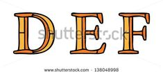 Alphabet Letters Stained Glass Window Style Stock Vector 138049004 ...