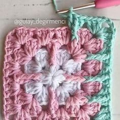 Transcendent Crochet a Solid Granny Square Ideas. Inconceivable Crochet a Solid Granny Square Ideas. Crochet Squares, Point Granny Au Crochet, Crochet Motifs, Granny Square Crochet Pattern, Crochet Blocks, Crochet Stitches Patterns, Crochet Designs, Free Crochet, Knitting Patterns