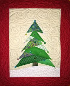 Christimas Tree Paper Pieced quilt pattern by Debra Clutter