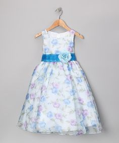 This Blue Floral Organza Dress - Toddler & Girls by Kid's Dream is perfect! #zulilyfinds
