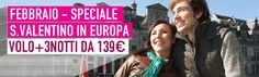 Buongiorno piccioncini! Se siete alla ricerca di un bel viaggio per San Valentino, guardate le nostre offerte in #Europa: Volo+3Notti da 139€! www.it.lastminute.com This is #love!  #viaggi #localista #travel