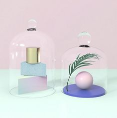 3D Pastel Colored Set Design 15