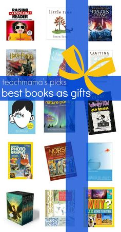 best books as gifts for everyone on your list for preschoolers, elementary schoolers, middle schoolers, and families | books are a GREAT gift for any time of the year | here are our top picks