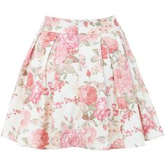 Miss Selfridge Floral Print Skater Skirt (255 RON) ❤ liked on Polyvore featuring skirts, bottoms, saias, faldas, nude, floral print skater skirt, miss selfridge skirts, floral skater skirts, flower print skirt and floral skirt