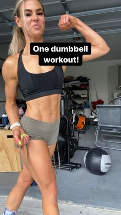 Dumbbell Workout, Butt Workout, Gym Workout Videos, Fun Workouts, Fitness Workout For Women, Workout Challenge, Weight Lifting, Fitness Inspiration, Crossfit