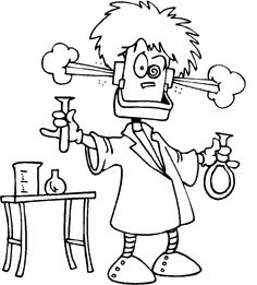 Science Lab Coloring Pages Science