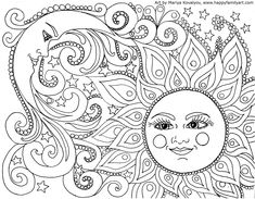 FREE Adult Coloring Pages - these free coloring sheets are perfect for grown-ups or older children who are looking for a challenge! Free printable coloring pages for adults are a great way to relax, unwind, and de-stress! Moon Coloring Pages, Free Adult Coloring Pages, Printable Coloring Pages, Coloring Sheets, Coloring Books, Kids Coloring, Mandala Coloring Pages, Colouring Pages For Adults, Fairy Coloring