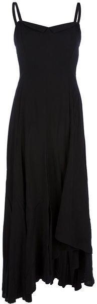 Yohji Yamamoto Black Strappy Dress