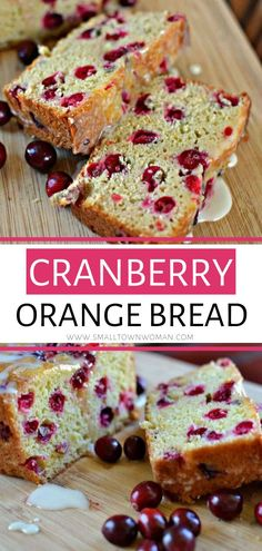 A scrumptious moist loaf, this Cranberry Orange Bread is an incredible Thanksgiving recipe! This bread is absolutely delicious and perfect for your holiday entertaining or gift giving. Save this cranberry orange bread with glaze! Best Bread Recipe, Bread Recipes, Baking Recipes, Dessert Recipes, Desserts, Brunch Recipes, Cookie Recipes, Easy Christmas Treats, Vegan Christmas