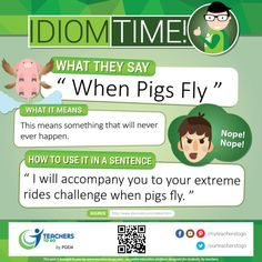 Did you know that this idiomatic expression is an adynaton—a figure of speech so hyperbolic that it describes an impossibility.  Teachers to GO! offers Live One-on-One & Homework Help HERE Sign-up & Join our community > www.teachers-to-go.com Like us on Facebook Follow us on Twitter and Instagram