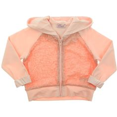 42bc3c71ad Monnalisa+Junior+Girls+Pink+Tracksuit+Top+With+Sequinned+Body+And+Velvet +Hood