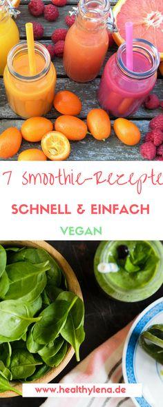 Wenn es eines gibt, das mir jeden Sommermorgen versüßt, dann sind das ganz klar Smoothie. Egal ob grün, pink oder orange – ich liebe Smoothies. Für mich sind sie ein toller Weg, meinen Obst- und Gemüse-Konsum spielend leicht zu erhöhen und Energie für den Tag zu tanken. Aus diesem Grund habe ich heute auf dem Blog 7 vegane Smoothie Rezepte für euch in petto, die schnell gemacht sind und auch Anfängern super lecker schmecken!