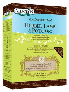 Addiction Raw Dehydrated Grain-Free Dog Food, Herbed Lamb & Potatoes, 8lbsDoggie Entertainment- A Movie For Your Dog - buy your dogs supplies from dog lovers just like you... « DogSiteWorld-Store « DogSiteWorld-Store