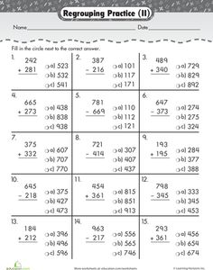 math worksheet : 3 digit subtraction with regrouping  worksheets and free worksheets : Subtracting Mixed Numbers With Regrouping Worksheets