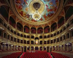 Hungarian State Opera House, Budapest, Hungary by David Leventi presented by Foster White Gallery, Seattle Gustav Mahler, Teatro Musical, New York Studio, Ballet Theater, Phantom Of The Opera, World Famous, Concert Hall, Death Valley, Art And Architecture