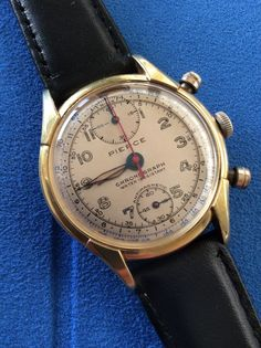 Online veilinghuis Catawiki: Pierce chronograaf - herenhorloge - jaren 40