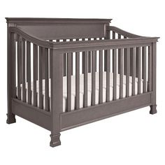 Million Dollar Baby Classic Foothill 4-in-1 Convertible Crib with Toddler Rail in Weathered Grey (has matching dresser)