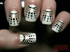 """When I saw this I read dots, but what I thought was, """"wow, those are really cool daleks from Doctor Who.""""  End Geeky Moment"""