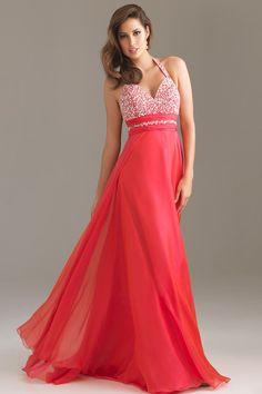 New Arrival Prom Dresses A Line Halter Floor Length Chiffon USD 129.99 BPP5QH1J6E - BrandPromDresses.com