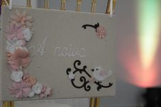 Placa dos noivos - noiva