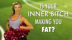 Ya know that little voice inside your head that's always negative & bossy with you? Well ladies, that's your inner bitch. And she doesn't just call you fat, she could be making you fat too!   See J-ciniTV's solution to cultivating your inner cheerleader - and letting HER take the reigns (or Pom Poms) to your inner bitch. #laughyourselfskinny #jessicaprocini #LYS #losingweight #tips #weightloss #dieting #diets