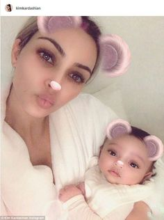 Here she is! Kim Kardashian has finally debuted a photo of her third child, daughter Chica... #kardashians