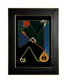 "EINGERAHMTER KUNSTDRUCK ""VIOLONIST"" MARACHOWSKA ART MARACHOWSKA ART http://www.marachowska.com/"