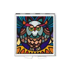 @grumpy247 Owl Decorative Square Pill Box on CafePress.com
