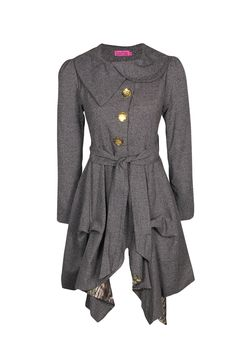Leona Long Line Waterfall Jacket / Coat - cute for Fall and Winter, and it's nice and dressy! Not sure about the buttons though.