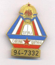 YUGOSLAVIA   SFRJ   CUSTOMS CONTROL BREAST BADGE with serial number 94-7332 , RR