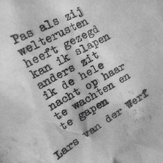 Lars van der Werf schrijft de allermooiste versjes!