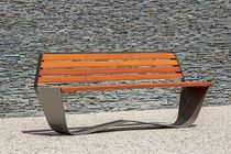 Public bench / contemporary / in wood / steel