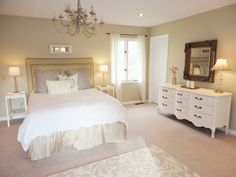 Dramatic Budget Bedroom Makeover! Click through for tons of ideas on how to completely transform your bedroom on a budget. Great info.