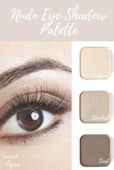 hacks makeup Customizable eyeshadow tins from Maskcara Beauty for a Nude Eyeshadow Palette. Sabrina, Stardust, and Trust for a nude smokey eye. Subtle Makeup, Soft Makeup, Natural Makeup, Makeup Looks, Eye Makeup, Makeup Tips, Makeup Tutorials, Makeup Ideas, Maskcara Makeup